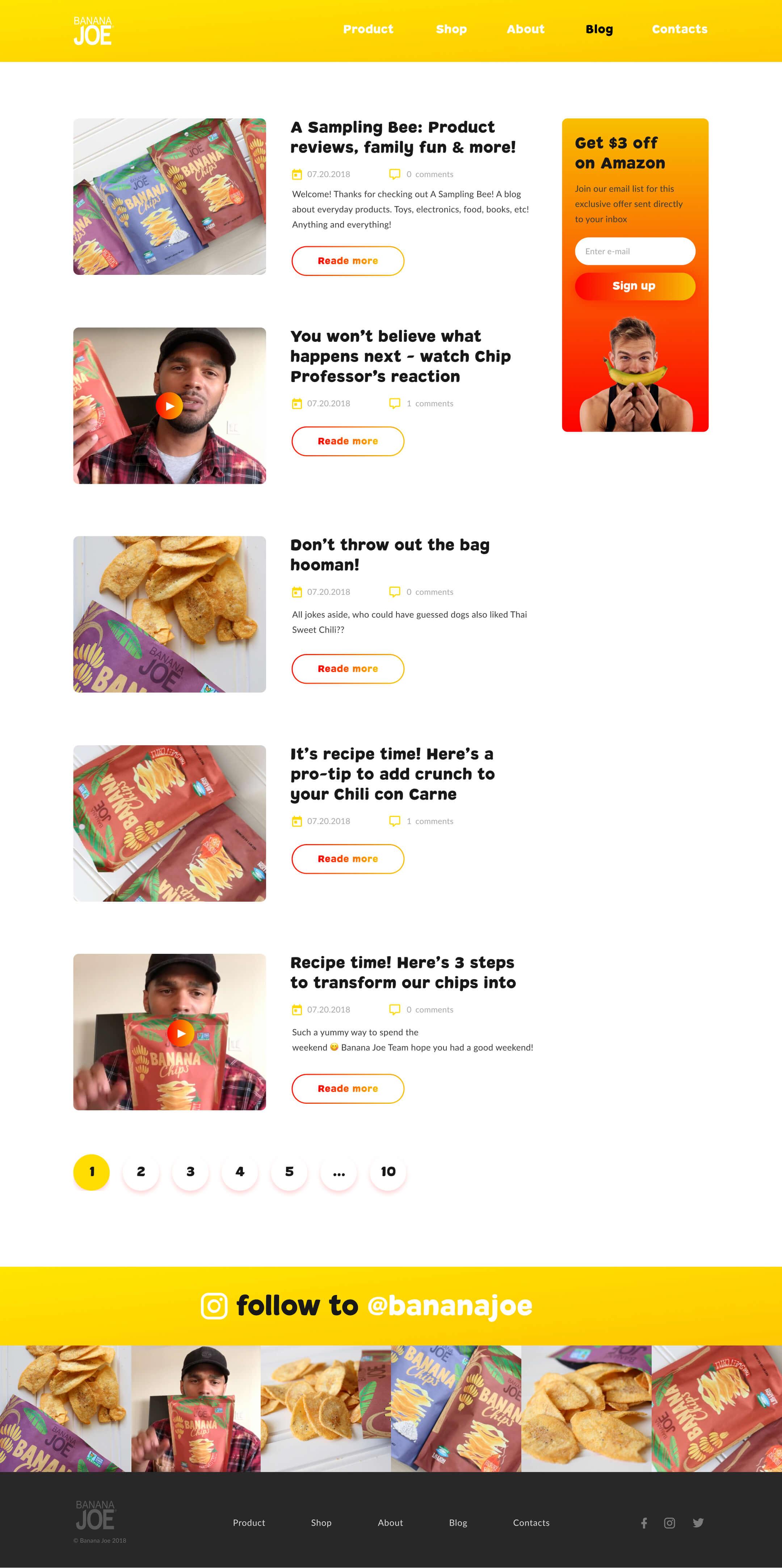 Banana Joe Blog